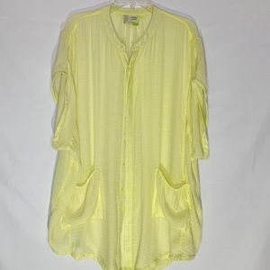 Anthropologie yellow cover up